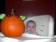Vaughn's first Pumpkin
