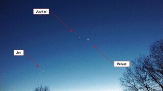 Jupiter and Venus are prevalent.