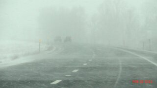 East Bound on I-88 Weds. pm near Afton