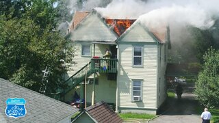 Fire on park St in Binghamton New York