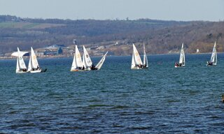 Sailboat Race on Beautiful Cayuga Lake