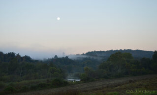 Harvest Moon in the morning.
