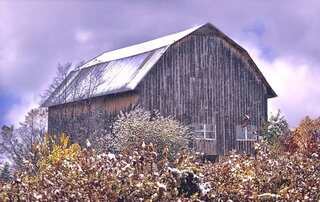 Snowy Winter Barn!
