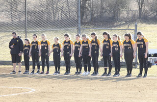 Lady Knights hold a moment of silence