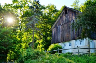 An old barn in Binghamton NY
