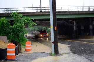 Underpasses Flood Following Heavy Rain