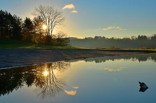 Sunrise at Hills Creek, Tioga County,PA!