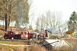 Tractor Trailor crash