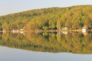 Mirror images on Oquaga Lake