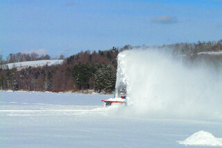Plowing the Ice at Dorchester  2/6/14