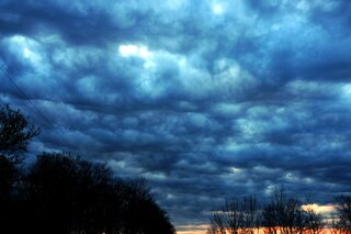 morning storm clouds