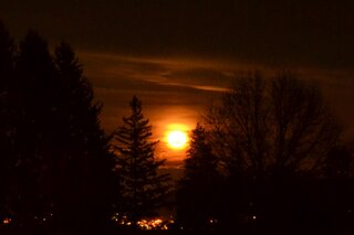 Moon Rise over Endicott