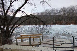 Ice Jam at Hiawatha Landing