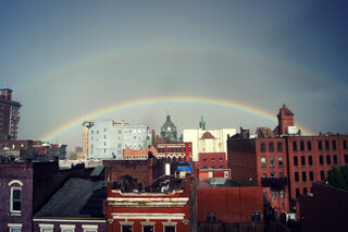 Downtown Double Rainbow!
