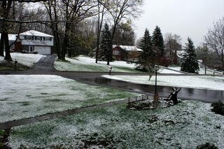Woke up to Snow - In Late April