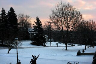 Snowy Sunrise in Owego