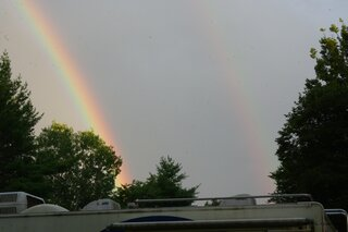 Double Rainbow at Camp