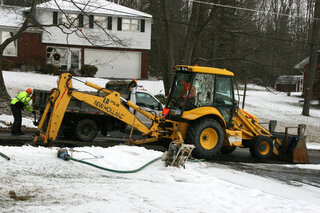 Water Main Break in Town of Owego