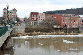 Ice on Owego's Riverwalk