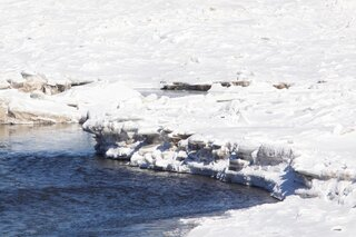 Ice Banks on the Delaware River