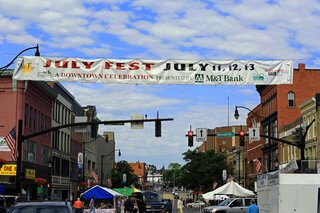 July Fest Underway Under Blue Skies
