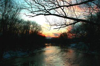 Sunset over the Chenango River