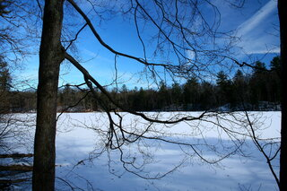 A cold day at Chenango Valley State Park