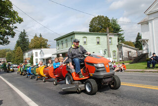 Sidney Center Tractor Parade in town
