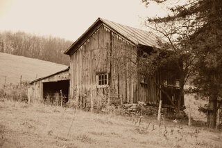 A couple of old barns.