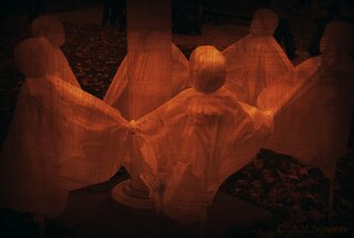 Ghosts at Pumpkin Fest
