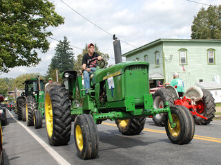 The Sidney Center Tractor Parade Showing