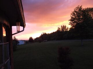 Sunset over Owego