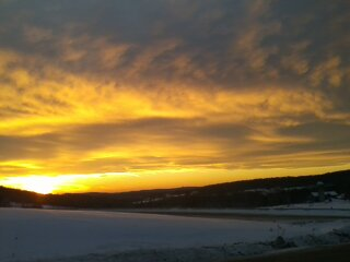 Sunset, Oxford NY Jan 4 2014