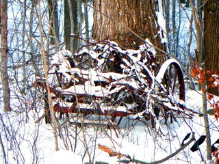 Old Hiller Plow in the Snow