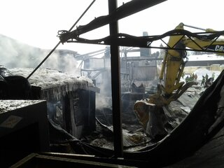 Fire Damage at Wagner Lumber in Owego