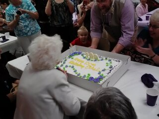 She still has it at 100 years old!