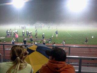 Fog Rolling in At youth Football Game