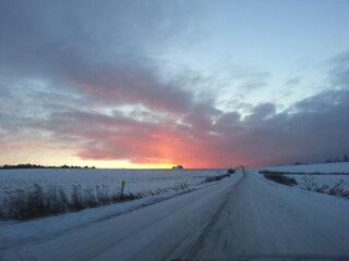 Winter Country Sunrise