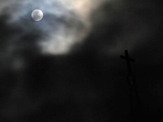 Full Moon over Catholic Church
