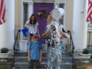 Owego Elks Tim Sayers gets wet for ALS