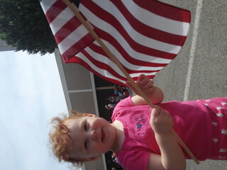 Abbie Enjoying the Memorial Day Parade