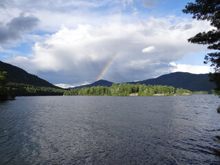 Rainbow over Black Mt, Lake George NY