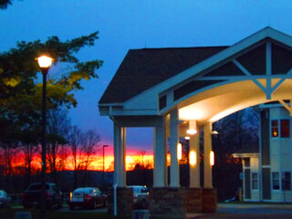 sunset at Oxford Veterans Home