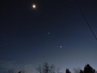 Conjunction of Moon, Jupiter and Venus