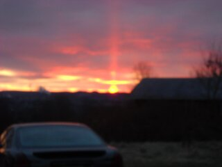 Red beam of light to Heaven