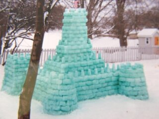 snow castle from the past  -2000-