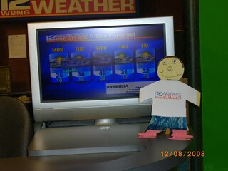 Flat Stanley visits WBNG