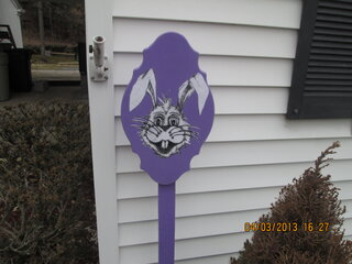 Easter Bunny Decoration in Front Yard