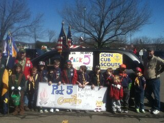 Pack 5 Cub Scouts on the March!