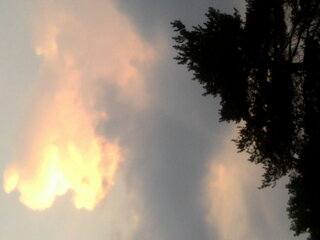 CLOUDS BEFORE NIGHTFALL IN CONKLIN NY